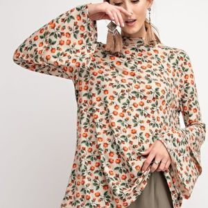 Layered Bell Sleeve Tunic Top